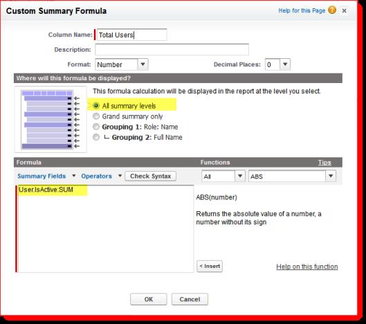 report formula field